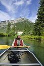 Free Canoeing In The Canadian Rockies Stock Photography - 9898382