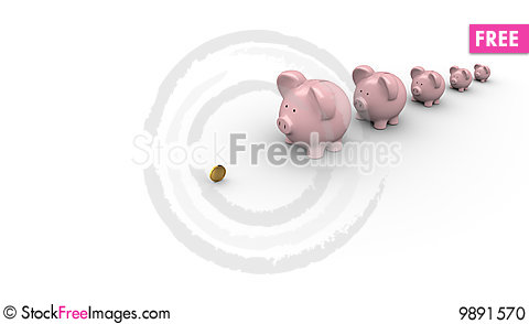 Banks waiting in a line for money Stock Photo