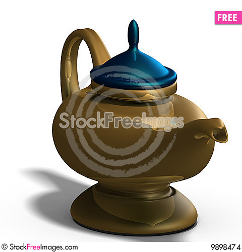 Aladdins magical lamp Stock Photo