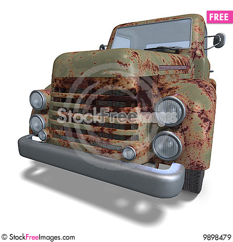 Free Old Fashioned Pickup Car Royalty Free Stock Images - 9898479