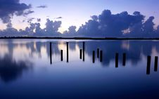 Evening Lake Royalty Free Stock Photo