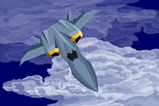 Free Future Fighter-Cruise Stock Photography - 9892392