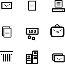 Free Vector Icon Set Stock Photo - 9892560