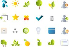 Free Vector Icon Set Royalty Free Stock Photo - 9892565