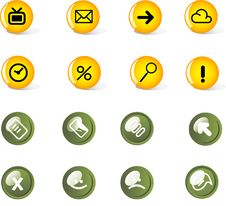 Free Vector Icon Set Royalty Free Stock Photos - 9892568