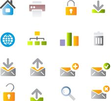 Free Vector Icons Set. Royalty Free Stock Image - 9892576