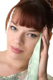Free Red Haired Girl Wearing A Tunic Close-up Stock Photos - 9893173