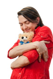 Free Young Guy With His Loved Toy Stock Photo - 9893210