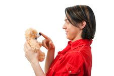 Free Young Guy With His Loved Toy Royalty Free Stock Images - 9893219