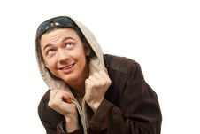 Free Young Guy  In A Hood. Royalty Free Stock Photos - 9893228