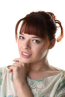 Free Red Haired Girl Wearing A Tunic Royalty Free Stock Images - 9893309