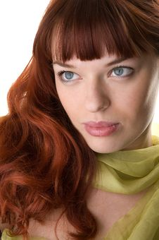 Red Haired Woman Close-up Stock Photography