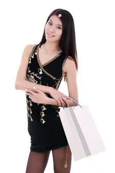 Free Asian Shopping Girl Stock Photography - 9893932