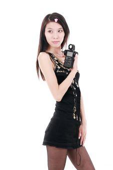 Free Asian Girl Holding Exposure Meter Royalty Free Stock Photos - 9893968
