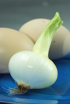 Free White Onion With Eggs Stock Photos - 9894443