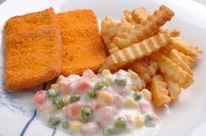 Free Fish And Chips Stock Photos - 9894673