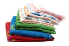Free Pile Of Bath Towels Stock Image - 9895181