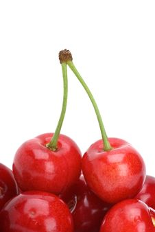 Free Red Cherries Royalty Free Stock Photos - 9895918