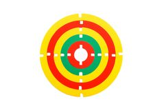 Free Toy Rubber Target Isolated Royalty Free Stock Images - 9895969