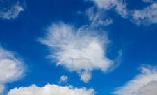Free White Cumulus Clouds In Blue Sky Royalty Free Stock Photo - 9895975