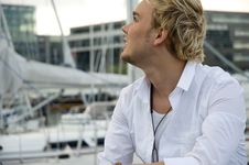 Free Young Man At A Yachtclub Stock Photos - 9896043