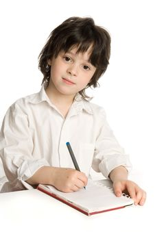 Free The Little  Boy Which Drawing Stock Photography - 9896102