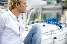 Free Young Man At A Yachtclub Stock Photo - 9896130
