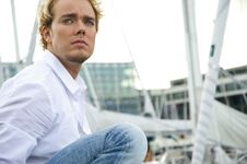 Free Young Man At A Yachtclub Stock Photo - 9896150