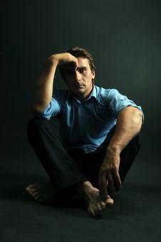 Free Man Meditating Royalty Free Stock Photo - 9896585