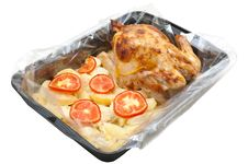 Free Hen Baked With A Potato Stock Images - 9897004
