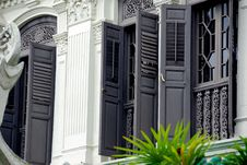 Singapore: Historic Emerald Hill Home Stock Photography