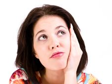 Young Woman Thinking Royalty Free Stock Images