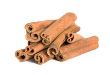 Cinnamon Sticks On White Background Royalty Free Stock Photo