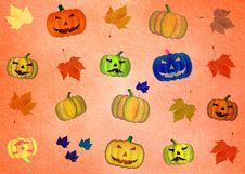 Free Happy Halloween Pattern Stock Images - 9898164