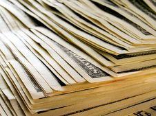 Free Stack Of Dollars. Royalty Free Stock Image - 9898166