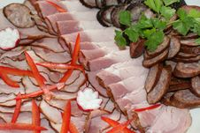 Cold Meat Plate Royalty Free Stock Images
