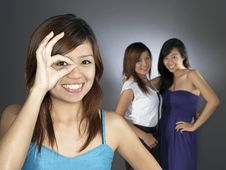 Free Three Girlfriends Royalty Free Stock Images - 9898969