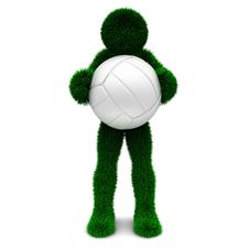 Free 3D Man And Ball Isolated On White. Royalty Free Stock Images - 9899779