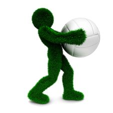 3D Man Holds The Ball Isolated On White. Royalty Free Stock Photo