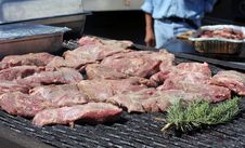 Free Steaks On An Outdoor Grill Royalty Free Stock Image - 9899896
