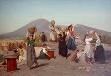Free &x22;Fouilles à Pompéi&x22;, Edouard Sain, 1865. Stock Photos - 98960773