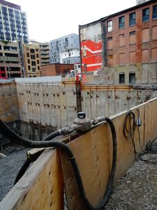 Free Looking North At The Excavation At Victoria And Richmond, 2017 08 22 -b Stock Photography - 98960852