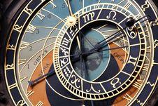 Free Prague Astronomical Clock Detail Stock Photography - 98961102