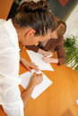 Free Two Girls Making Notes Stock Photography - 995082