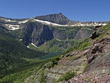 Free View From Triple Divide Pass Trail Stock Photography - 991122