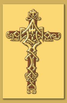 Free Golden Cross Royalty Free Stock Photos - 991438
