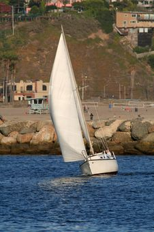 Reaching Sailboat Stock Images