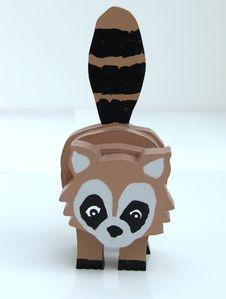 Free Wooden Raccoon Knick-Knack Royalty Free Stock Image - 991906
