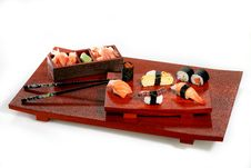 Free Sushi Platter Royalty Free Stock Photo - 991945