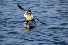 Free Woman Paddling Stock Photos - 992003
